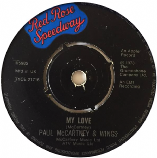 "Paul McCartney & Wings - My Love (7"") (G-/NM)"
